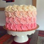 Torta Rosetones de Buttercream